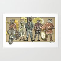 steampunk Art Prints featuring Steampunk  by Felis Simha