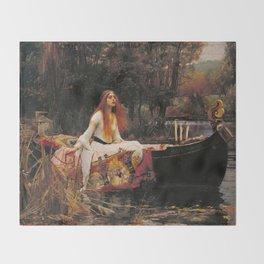 The Lady of Shallot - John William Waterhouse Throw Blanket