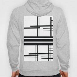 Matchy Stripes Black and White Hoody