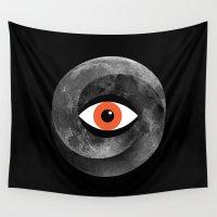 illuminati Wall Tapestries featuring Eternal eye by Wharton