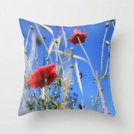 Poppies flower Throw Pillow