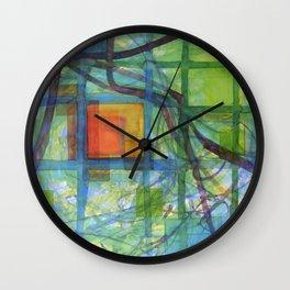 Captured Squares Wall Clock