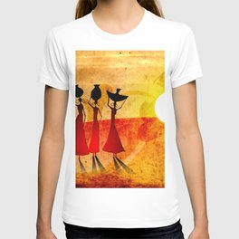 Africa retro vintage style design illustration T-shirt