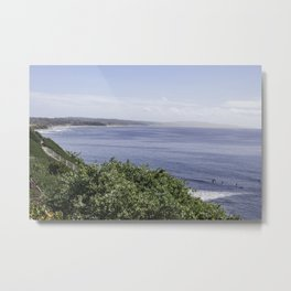 Moonlight Beach Metal Print