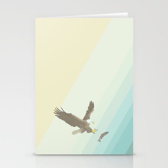 Eagle & Fish Stationery Cards