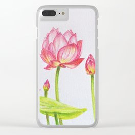 Porcelain lotuses Clear iPhone Case
