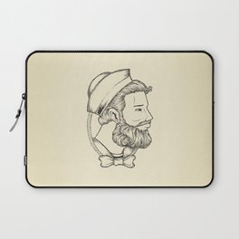 Old sailor wearing a bow tie Laptop Sleeve