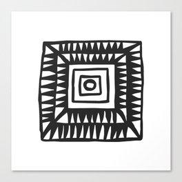 Tribal Print B&W- 02 Canvas Print