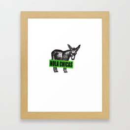 Hola Chicas Framed Art Print