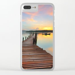 Sunrise From a Wooden Seaway Clear iPhone Case
