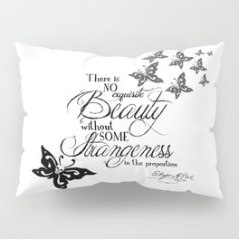 'Strange Skullerflies' -  Quotes - Edgar Allan Poe Pillow Sham
