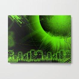 GreenCity Metal Print