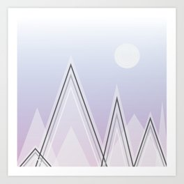 Mt. Pastel Art Print