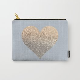 GATSBY GOLD HEART GREY II November Skies Carry-All Pouch