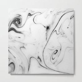 Elegant white marble image Metal Print