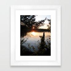 Twilight woods. Framed Art Print