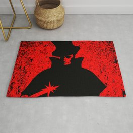 Jack the Ripper Blood Background Rug