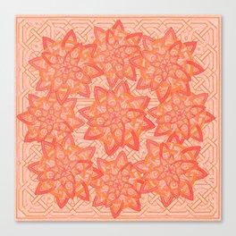 Celtic tones in peach Canvas Print
