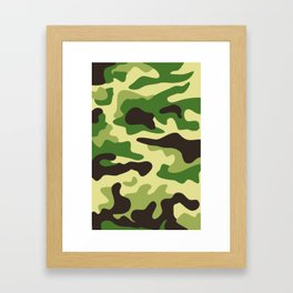 Khaki camouflage pattern Framed Art Print