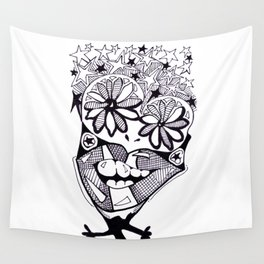 Flower Eyes Wall Tapestry