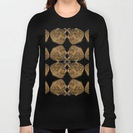 Fractal Art - Golden Pyramid Long Sleeve T-shirt