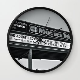 Movies To Go Wall Clock
