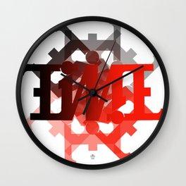 "Ambigram ""TIME"" spiral Wall Clock"