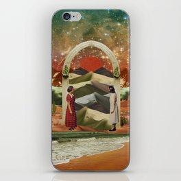 Magic door to the infinite deserts iPhone Skin
