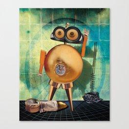 Gold robot Canvas Print