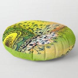 Abstract Acrylic Art The Garden Floor Pillow