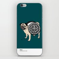 yolo iPhone & iPod Skins featuring YOLO by Huebucket