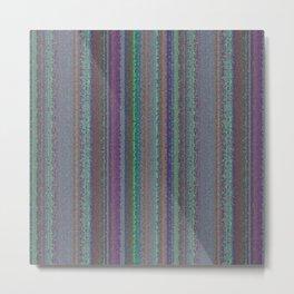 Muted Purples Mosaic Watercolor Stripes Metal Print
