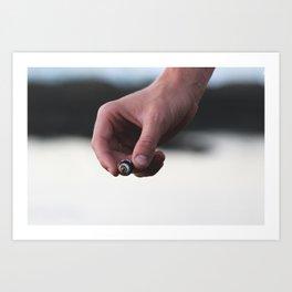 SHELL HAND Art Print