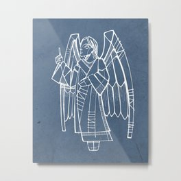 Angel ink hand drawn illustration Metal Print