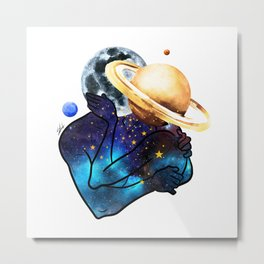 Planets love. Metal Print