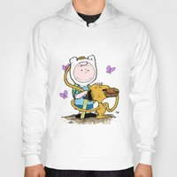 snoopy Hoodies featuring Peanuts Time with Charlie and Snoopy by Ian Westart