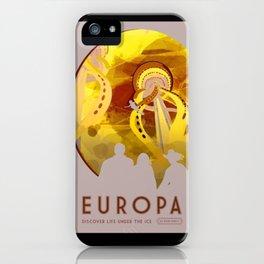 Europa - NASA Space Travel Poster (Alternative) iPhone Case
