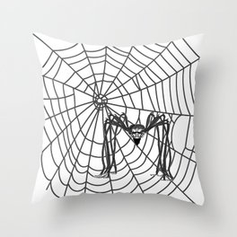 web with spider, spideypool, hegre prints illustration is inspired ... Home Decor Graphicdesign Throw Pillow