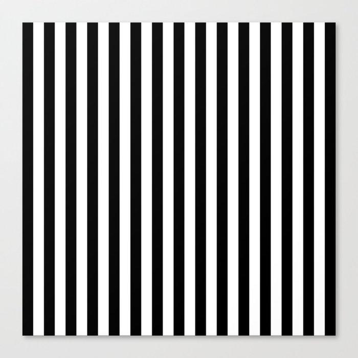 Stripe Black And White Vertical Line Bold Minimalism Stripes Lines Leinwanddruck