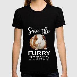 Humorous Save Furry Potato Hamster Graphic Men Women T Shirt Funny Cute Guinea Pigs Cool Design Tee T-shirt
