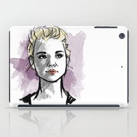 moriarty iPad Cases featuring elementary: jamie moriarty by roanne Q