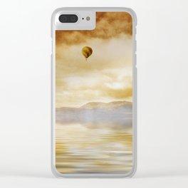 Hot Air Balloon Escape Clear iPhone Case