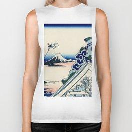 "Hokusai (1760-1849) ""Asakusa Hongan-ji temple in the Eastern capital [Edo]"" Biker Tank"