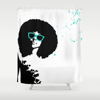 scorpio Shower Curtains featuring Scorpio by Bree Stillwell Craft