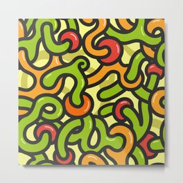 Abstract pattern with tangled lines in graffiti style Metal Print