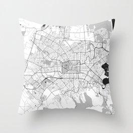 Christchurch Map Gray Throw Pillow