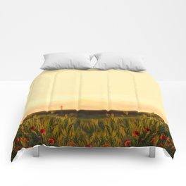 Poppy fields  Comforters