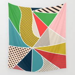 color segments 002 Wall Tapestry