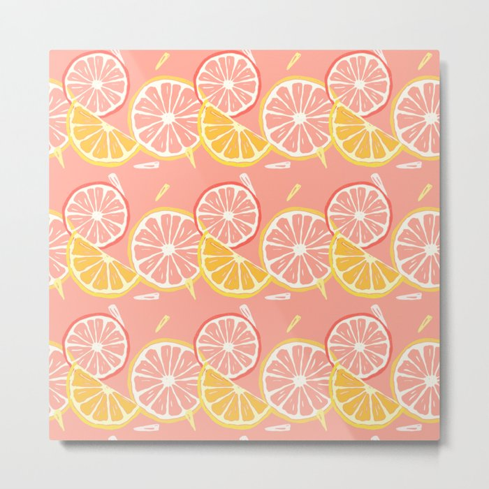 Fruit Slices Metal Print