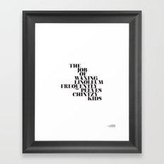 Pangram - 3 Framed Art Print